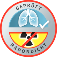 Button Radondicht