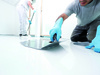 Man Floor Liquid Plastic